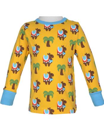 Maxomorra T-Shirt Langarm KAMEL KARAWANE gelb/blau GOTS M467-C3336