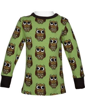 Maxomorra T-Shirt Langarm OWL grün C3416-M467 GOTS