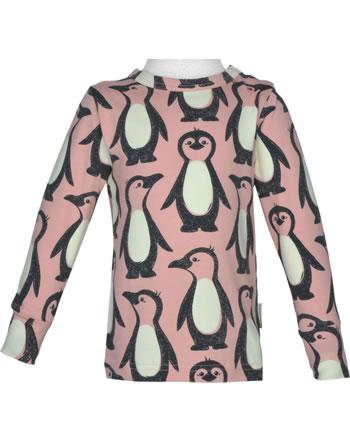 Maxomorra T-Shirt Langarm PINGUIN FAMILIE rosa M467-D3298 GOTS