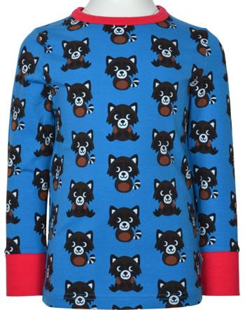 Maxomorra T-Shirt Langarm RACCOON blau XA13-02A GOTS
