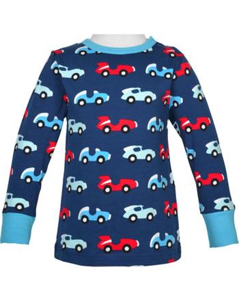 Maxomorra T-Shirt Langarm RACE blau/rot C3426-M467 GOTS