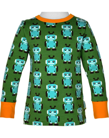 Maxomorra T-Shirt long sleeve ROBOT grün C3422-M467 GOTS