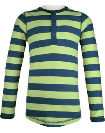 Maxomorra T-Shirt Langarm Slim STRIPE fern C3447-M546 GOTS