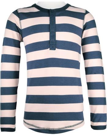 Maxomorra T-Shirt long sleeve Slim STRIPE pale blush C3448-M546 GOTS