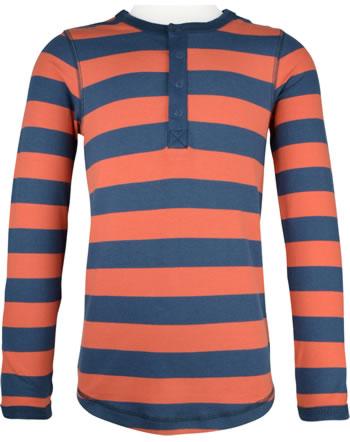Maxomorra T-Shirt long sleeve Slim STRIPE stripe rowan C3449-M546 GOTS