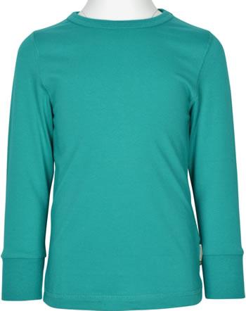 Maxomorra T-Shirt Langarm SOLID LAGOON grün XAS3-38A GOTS