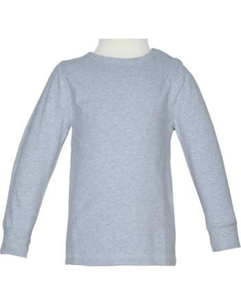 Maxomorra T-Shirt Langarm SOLID light grey melange M335-D3260 GOTS