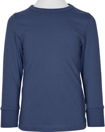 Maxomorra T-Shirt Langarm SOLID NAVY blau XAS2-38A GOTS