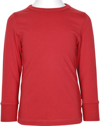 Maxomorra T-Shirt Langarm SOLID RUBY rot XAS1-38A GOTS