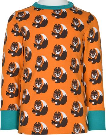 Maxomorra T-Shirt Langarm SQUIRREL orange XA24-02A GOTS