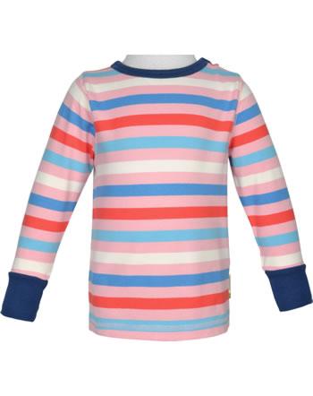 Maxomorra T-Shirt Langarm Streifen Blossom rosa/blau GOTS M520-C3351