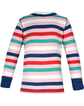 Maxomorra T-Shirt long sleeve STRIPE stripe blossom C3438-M520 GOTS