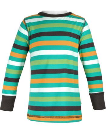Maxomorra T-Shirt Langarm STRIPE stripe lagoon C3439-M520 GOTS