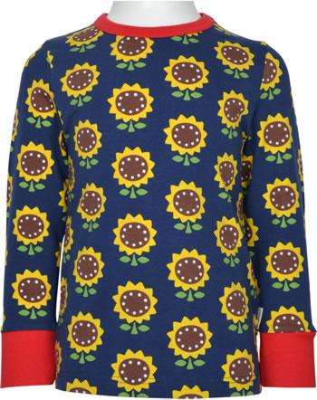 Maxomorra T-Shirt Langarm SUNFLOWER blau XA15-02A GOTS