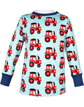 Maxomorra T-Shirt long sleeve TRACTOR blue C3468-M467 GOTS