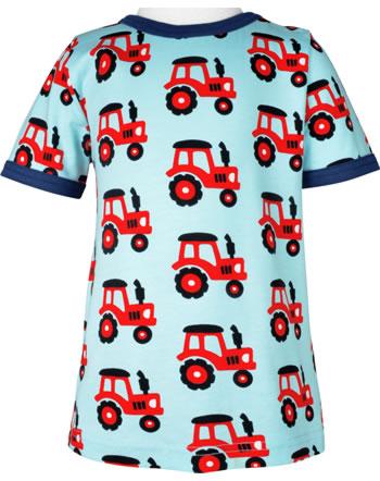 Maxomorra T-Shirt short sleeve TRACTOR blue C3468-M468 GOTS
