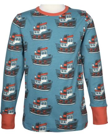 Maxomorra T-Shirt Langarm TUGBOAT blau C3431-M467 GOTS