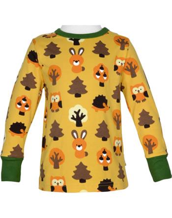 Maxomorra T-Shirt long sleeve YELLOW FOREST yellow C3423-M467 GOTS