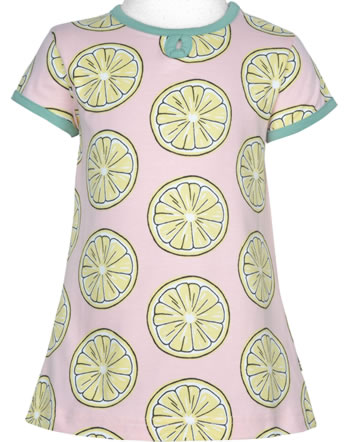 Maxomorra T-Shirt/Tunika Kurzarm FRESH LEMON rosa GOTS M542-C3383