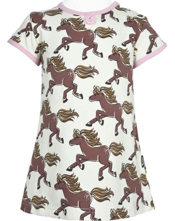 Maxomorra T-Shirt/Tunika Kurzarm HORSE beige GOTS M542-C3379