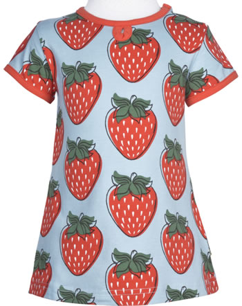 Maxomorra T-Shirt/Tunika Kurzarm STRAWBERRY rot GOTS M542-C3378