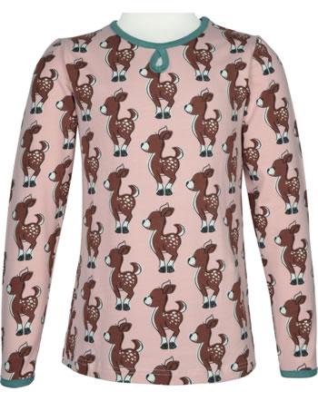 Maxomorra T-Shirt/Tunika Langarm FAWN rosa/grün C3436-M441 GOTS