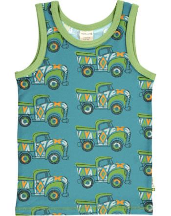 Maxomorra Tanktop Unterhemd BUNTER TRUCK grün/blau GOTS M471-C3365