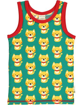 MaxomorraTanktop Undershirt CAT turquoise/red C3429-M471 GOTS