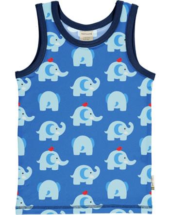 Maxomorra Tanktop Unterhemd ELEPHANT FRIENDS blau GOTS M122-C3339