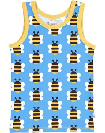 Maxomorra Tanktop Unterhemd HUMBLE BUMBLEBEE blau GOTS M471-C3343