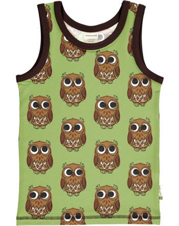 Maxomorra Tanktop Unterhemd OWL grün C3416-M471 GOTS
