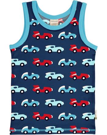 MaxomorraTanktop Undershirt RACE blue/red C3426-M471 GOTS
