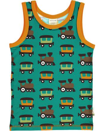 MaxomorraTanktop Undershirt TRAIN petrol/orange C3412-M471 GOTS