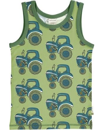 Maxomorra Tanktop Unterhemd TRAKTOR grün GOTS M471-C3376