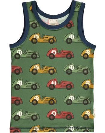 Maxomorra Tanktop Unterhemd VINTAGE RACE grün C3418-M471 GOTS