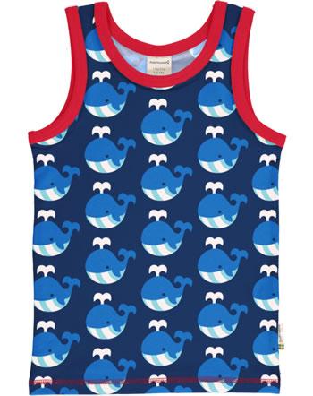 MaxomorraTanktop Undershirt WHALE blue C3413-M471 GOTS