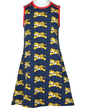 Maxomorra Träger-Kleid CHEETAH blau XA23-06A GOTS