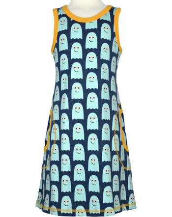 Maxomorra Träger-Kleid CLASSIC GHOST blau/orange C3499-M572 GOTS