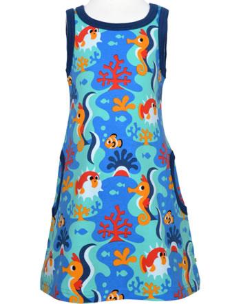 Maxomorra Träger-Kleid CORAL REEF blau C3491-M540 GOTS