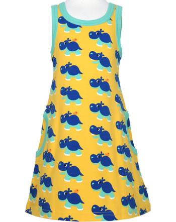 Maxomorra Träger-Kleid HIPPO gelb C3488-M540 GOTS