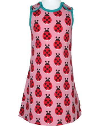 Maxomorra Träger-Kleid LADYBUG rosa XA16-06A GOTS