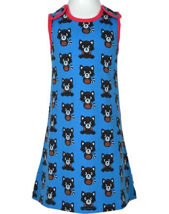 Maxomorra Träger-Kleid RACCOON blau XA13-06A GOTS