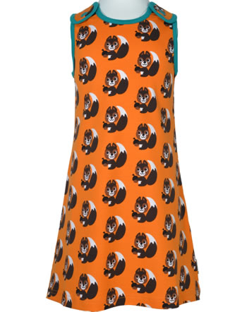Maxomorra Träger-Kleid SQUIRREL orange XA24-06A GOTS