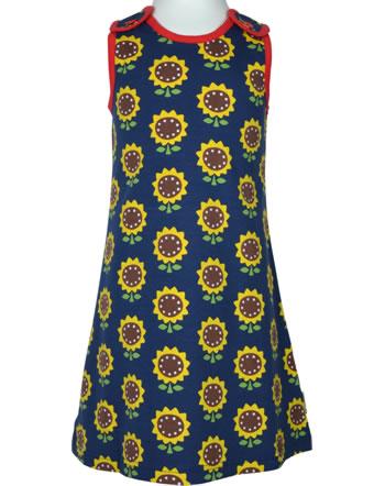 Maxomorra Träger-Kleid SUNFLOWER blau XA15-06A GOTS