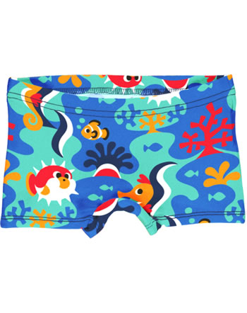 Maxomorra Unterhose Boxer Panty CORAL REEF blau C3491-M513 GOTS