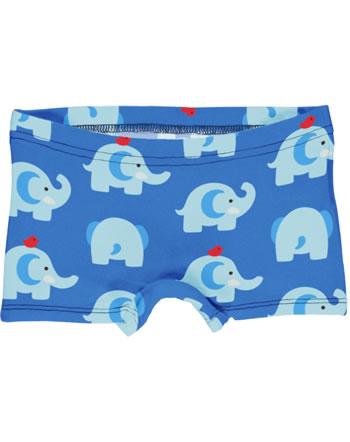 Maxomorra Unterhose Boxer Panty ELEPHANT FRIENDS blau GOTS M513-C3339