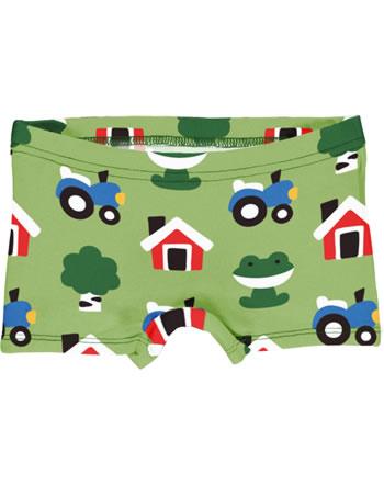Maxomorra Unterhose Boxer Panty FOREST FARM grün GOTS M513-C3342