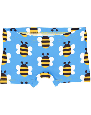 Maxomorra Unterhose Boxer Panty HUMBLE BUMBLEBEE blau GOTS M513-C3343