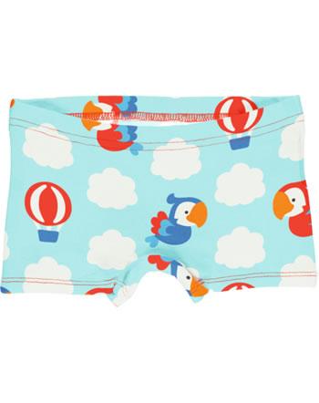 Maxomorra Unterhose Boxer Panty PARROT SAFARI blau GOTS M513-C3340