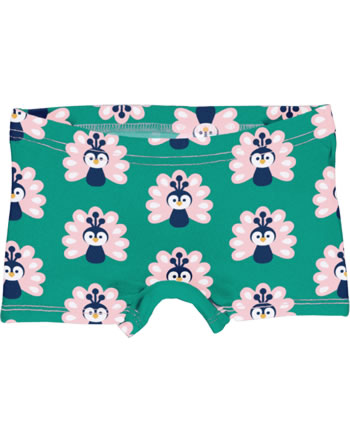 Maxomorra Briefs Boxer Panty PEACOCK green/pink C3446-M513 GOTS